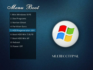 Created by Hirens USB ghost boot Windows 10, 8.1, 7
