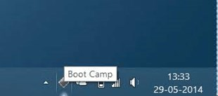 Get the Boot Camp icon in the Taskbar ✔️✔️✔️