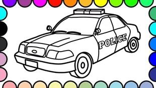 Disegni di Macchina della Polizia da colorare