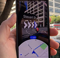 Verwendung von Augmented Reality Augmented Reality-Funktionen in Google Maps