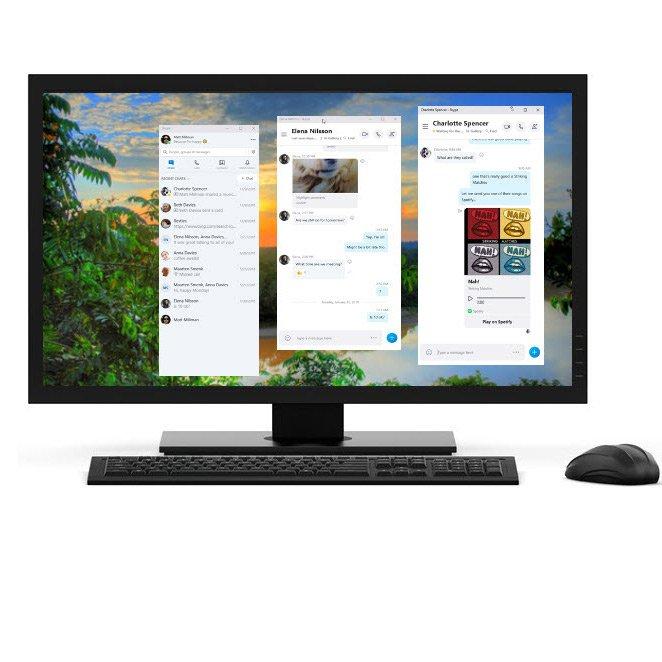 Skypeでウィンドウ分割モードを使用する方法