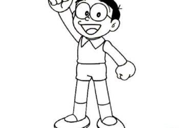 Raccolta delle più belle immagini da colorare Nobita