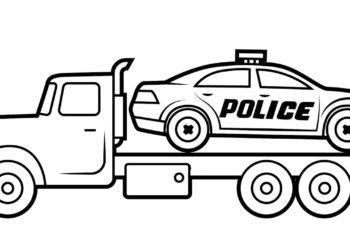 Raccolta delle più belle immagini da colorare della macchina della polizia
