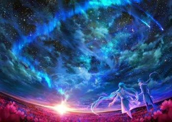 Le migliori immagini di paesaggi di galassie, sfondi anime