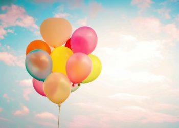 Synthetisieren Sie die schönsten bunten Luftballons
