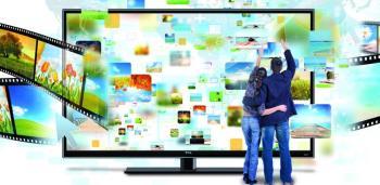 Antara muka Android pada Smart TV TCL