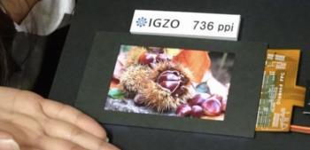 Sharp stellt den 4,1-Zoll-IGZO-Bildschirm mit einer enormen Pixeldichte vor