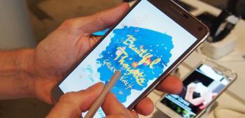 Pojawiająca się koncepcja Galaxy Note 6 z ultracienką krawędzią