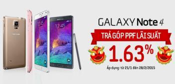Memiliki Samsung Galaxy Note 4 dengan ansuran PPF dengan kadar faedah 1.63%