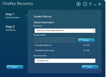 Check out Lenovos exclusive Onekey Recovery software