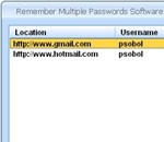 Remember Multiple Passwords Software