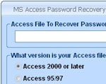 MS Access Password Recovery Software
