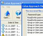 Lotus Approach Password Recovery