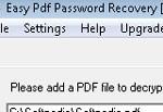 Easy Pdf Password Recovery