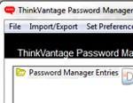 ThinkVantage Password Manager
