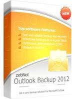 zebNet Outlook Backup 2012