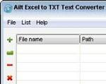 Ailt Excel to TXT Text Converter