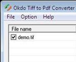 Okdo Tiff to Pdf Converter