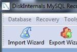 DiskInternals MySQL Recovery
