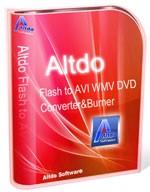 Altdo Flash to AVI WMV DVD Converter & Burner