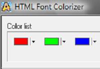 HTML Font Colorizer