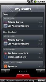 ESPN ScoreCenter for Android