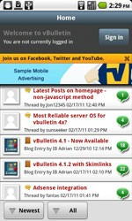 vBulletin Mobile for Android