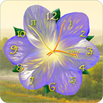 Flower Clock Live Wallpaper for Android