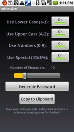 mPassGen for Android