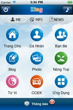 Zing for iPhone