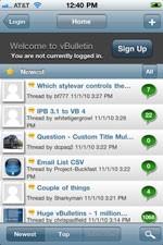 vBulletin Mobile for iPhone