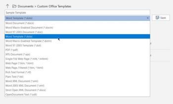 Как создавать собственные шаблоны в Microsoft Word
