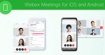 Anweisungen zum Registrieren und Verwenden von Webex Meeting auf Mobilgeräten