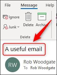 So bearbeiten Sie empfangene E-Mails in Microsoft Outlook