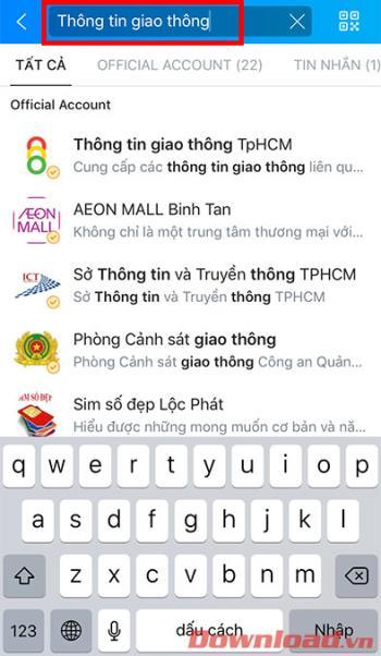Jak wyświetlić 685 kamer drogowych w Ho Chi Minh City z Zalo