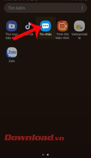 Petunjuk untuk mengubah wallpaper pesan di ponsel Samsung