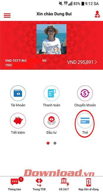 Techcombank ATM 카드 비밀번호를 온라인으로 변경하는 방법