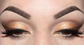 Gold und braune Augen Make-up: Sommer Make-up Tutorial