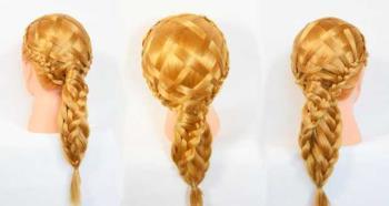 Çapraz örgülü saç modeli, gerçekten orijinal!