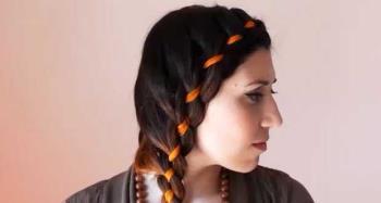 リボン付きブレード:DIYヘアスタイル