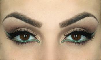 Make-up, um die Augen zu vergrößern und zu verlängern: Tutorial