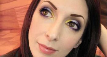 Maquillage jaune et violet avec Pupa Navy Chic