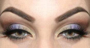 Lila Make Up für grüne Augen: Schön!