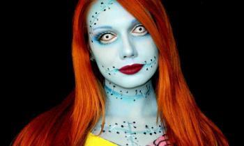 Maquiagem de Halloween Sally Nightmare Before Christmas