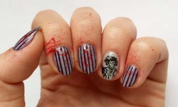 Sweeney Todd Nail Art para o Halloween: tutorial