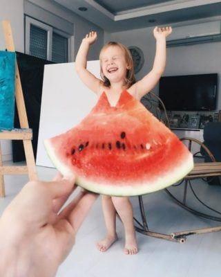 Hermosos vestidos para niñas: 23 ideas únicas para madres que no necesitan saber coser y ser creativas.