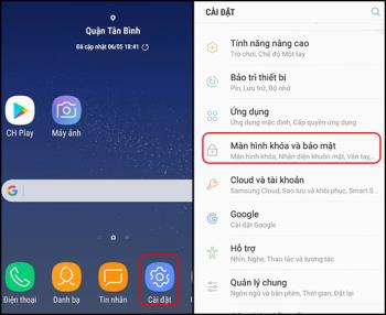 Instructions for scanning iris on Samsung Galaxy Note 9 simple