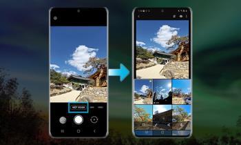 Tangkap Satu Sentuhan (Pengambilan Tunggal) pada telefon Samsung