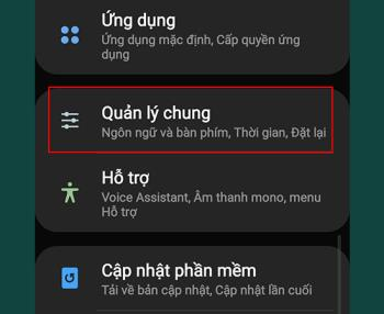 Instructions to change keyboard layout on Samsung Galaxy Note 8