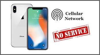 How to fix the error that cant access the Mobile Network on iOS 12.1.2